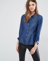 Jdy J.D.Y Denim Shirt Dark Blue Denim