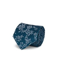 Isaia Floral Silk Jacquard Necktie Turquoise