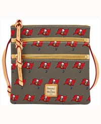 Dooney And Bourke Tampa Bay Buccaneers Triple Zip Crossbody Bag Gray