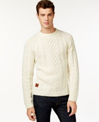 Wesc Cabe Cable Knit Sweater Winter White