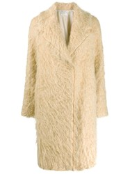 Forte Forte Textured Single Breasted Coat Neutrals