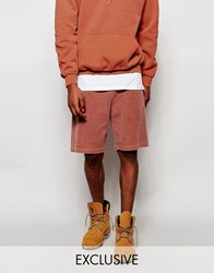 Reclaimed Vintage Shorts In Overdye Rust Brown