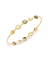 Ippolita Rock Candy Terra Citrine Pyrite And 18K Yellow Gold Double Tiara Bangle Bracelet Gold Multi
