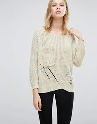 Love And Other Things Loose Knit Jumper Apricot Orange