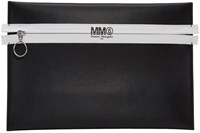 Maison Martin Margiela Mm6 Black Faux Leather Zip Pouch
