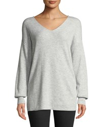 Bardot Knot Back Oversized Pullover Sweater Gray
