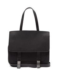 Mansur Gavriel Leather Satchel Shoulder Bag Black