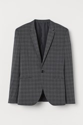 Handm H M Muscle Fit Blazer Gray