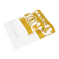 Versace Barocco And Robe Towel White Gold