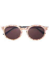 Thierry Lasry Silenty Round Sunglasses Pink And Purple