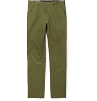 Maison Kitsune Cotton Twill Trousers Green