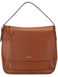 Smythson 'Burlington' Hobo Tote Brown