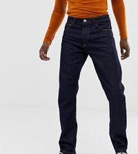 Heart And Dagger Tapered Jeans In Raw Indigo Denim Blue