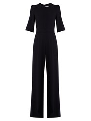Goat Delauney Wool Crepe Jumpsuit Navy
