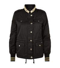Juicy Couture Sports Stripe Bomber Jacket Female Black