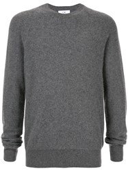 Ck Calvin Klein Long Sleeve Fitted Sweater Grey