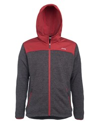 Jeep Tricot Hooded Fleece Jacket Red