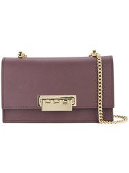 Zac Posen Earthette Chain Shoulder Bag Pink And Purple