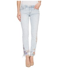 Blank Nyc Denim Embroidered Skinny In Late Bloomer Late Bloomer Women's Jeans White