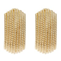 Finesse Textured Clip On Earrings Gold