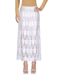 Le Ragazze Di St. Barth Long Skirts White