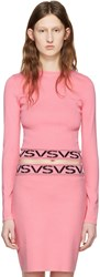 Versus Pink Cropped Logo Pullover