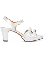 Chie Mihara Double Tie Sandals Grey