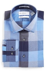 Calibrate Men's Big And Tall Trim Fit Non Iron Check Stretch Dress Shirt