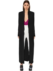 Haider Ackermann Wrap Crepe Long Coat