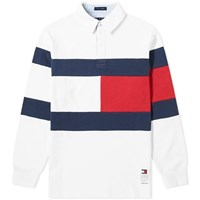 Tommy Jeans Flag Rugby Shirt White