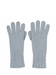Johnstons Of Elgin Cashmere Textured Cuff Glove Grey