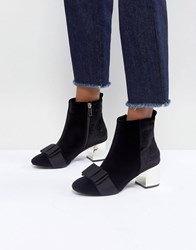 Miss Kg Talisa Bow Boots Black