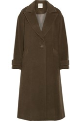 Michelle Mason Wool Blend Coat Army Green