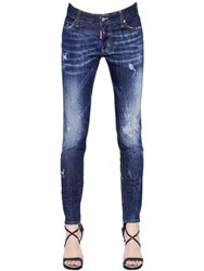 Dsquared Skinny Washed And Destroyed Denim Jeans