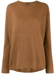 Aspesi Crew Neck Sweater Brown