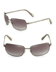 Fossil 62Mm Square Sunglasses Light Gold