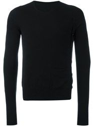 Maison Martin Margiela Side Button Crew Neck Sweater Black