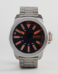 Boss Orange By Hugo New York Watch With Stainless Steel Strap Silver