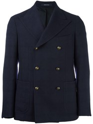 Tagliatore Double Breasted Jacket Blue