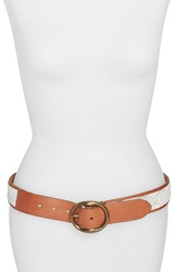 Lucky Brand Beaded Leather Belt Saddle