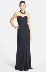 Women's Faviana Sweetheart Chiffon Gown Black