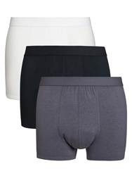 John Lewis Bamboo And Cotton Hipster Trunks Pack Of 3 Multi