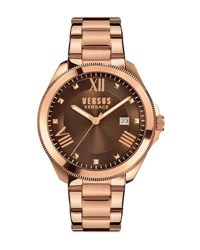 Versus By Versace Elmont Round 40Mm Women's Bracelet Watch Brown