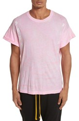 Drifter Men's Abassi Embroidered T Shirt Pink Lava