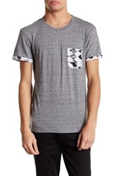 Eleven Paris Graphic Print Pocket Tee Gray