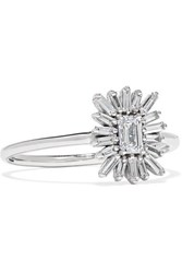 Suzanne Kalan 18 Karat White Gold Diamond Ring 5