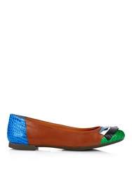 Fendi Monster Bug Leather Ballet Flats