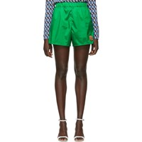 Prada Green Nylon Sport Shorts