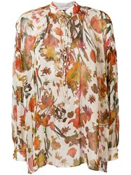 Iro Floral Print Shirt Nude And Neutrals