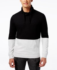 Inc International Concepts Men's Bacchus Funnel Neck Sweatshirt Only At Macy's Deep Black